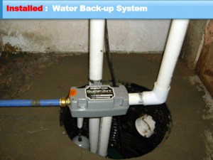 Blue Springs back up sump pump system