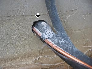 utility pipe penetrations, air infiltration, frozen pipes, winterization