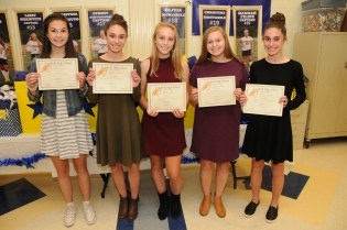 Julia Colucci, Lauren Mitchell, April Luders, Emily Goguen, and Ashley Mitchell