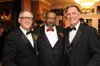 Former City Clerk Michael Matarazzo, Bishop Robert Brown, and Assistant City Clerk David Ragucci