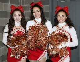 Senior Cheerleaders: Angelina Falzone, Victoria Arzola and Myah Blauvelt.
