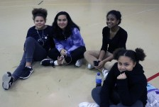 Cheering from the sidelines, Isabella Ivy, Meryem Hakkaoui, Stephanie Larrieux and Olivia Ivy.