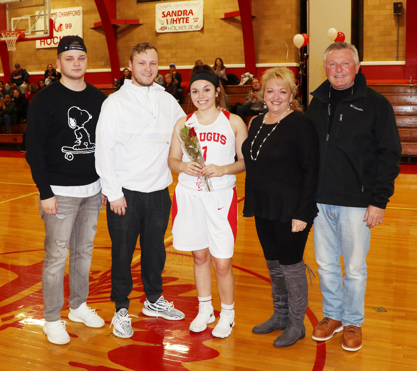 Captain Allie Kotkowski with her parents, Maryanne and Tony and brothers, Alex and Jared.