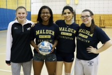 Meet the MHS girls' varsity volleyball players, Riley Strano, Mirabelle Jean Laris, Gabriella Carli, and Alicia Libby.