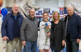Madison Cunningham with family, Debbie, Patrick, grandfathers, Frank Cunningham and Richard Segee.