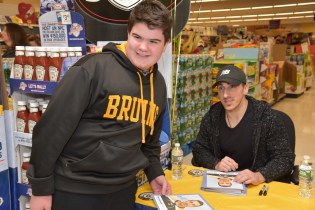 Dougie McGrath with Brad Marchand