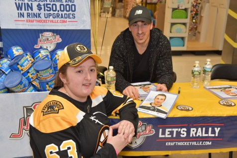 Gianna Federico with Brad Marchand