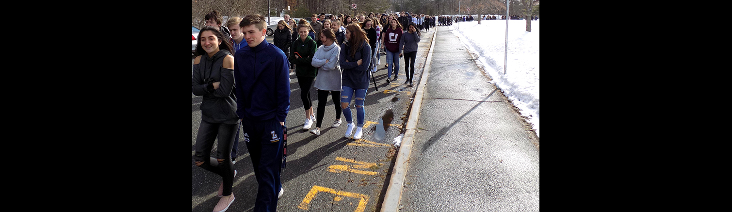 High school students participate in anti-violence walkout