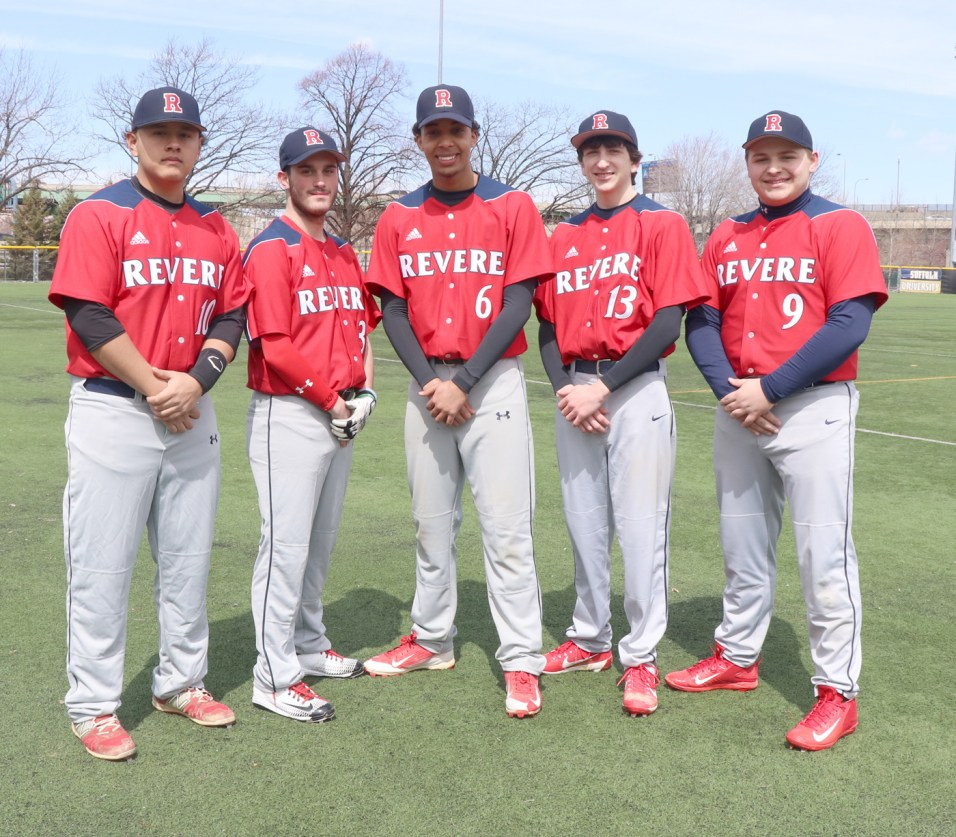 Patriot Seniors, Alejandro Arango, Shawn Goslin, Alex Baez, Joey Gendreau, James O'Donnell.