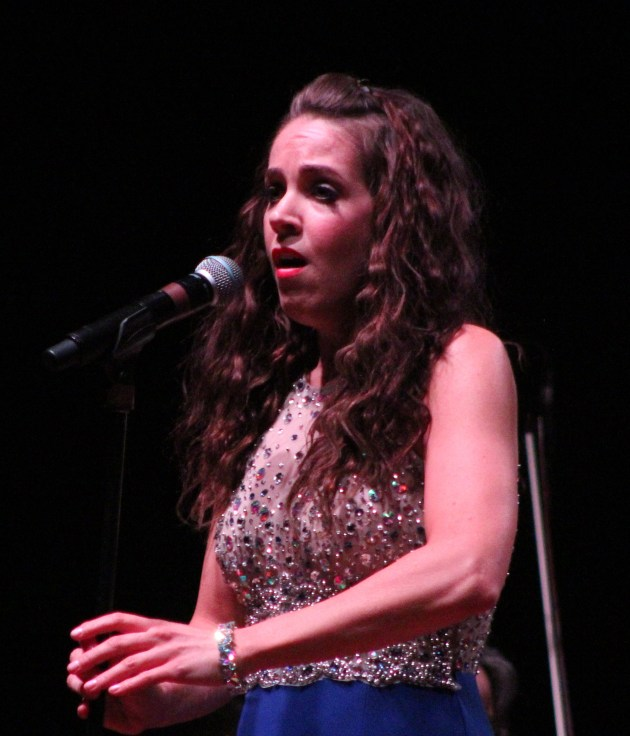 Soprano vocalist Ryann Murray performs a solo piece at Saturday's show.