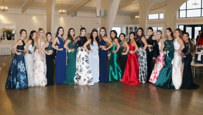 The rainbow of colors of the evening gowns at the RHS Junior Prom