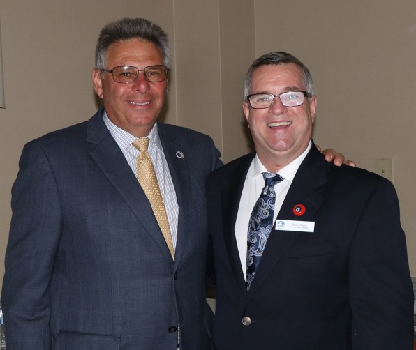 Revere Police Chief Jim Guido was on hand for the Revere Chamber Installation, shown with 1st Vice President, Brian Davis from Minuteman Press.