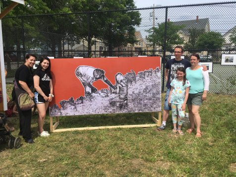 A highlight of the event was the creation of a community mural that will be displayed at the Everett Earthworks site