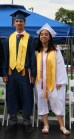 Valedictorian Patrick Adolphus and Salutatorian Amy Ly.