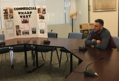 Recent high school graduate Anthony Murphy described his senior internship with Commercial Wharf West during the June 5 School Committee meeting.