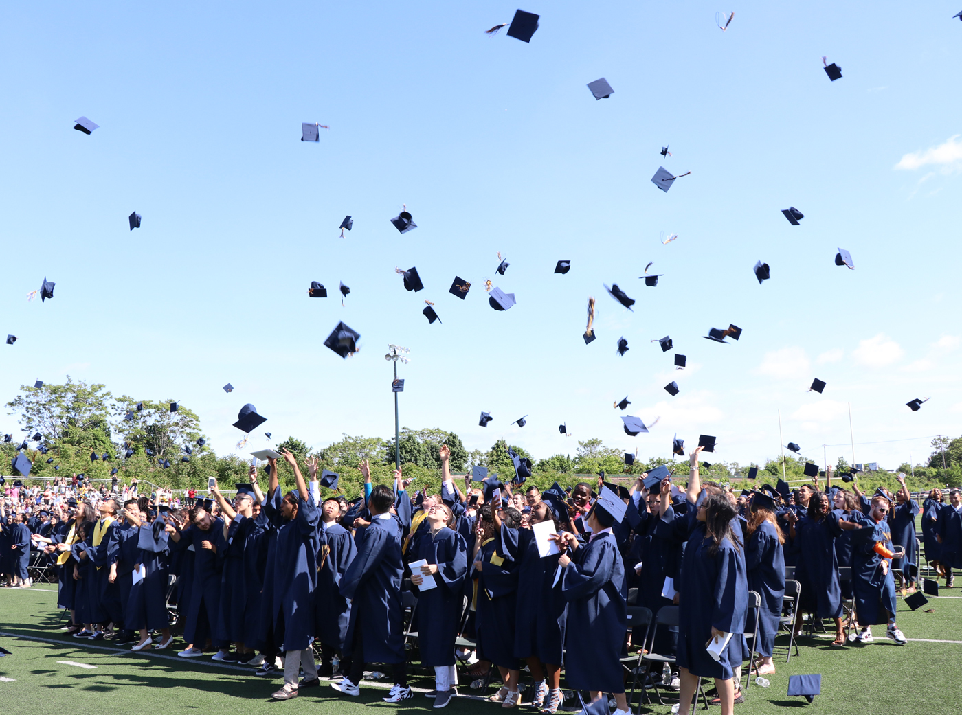 With the toss of their caps the MHS Class of 2018 graduation ceremony id concluded.