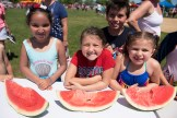 Kids of all ages participated in a watermelon eating contest on the 4th of July in Revere