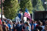 A tall George Washington towered over the busy crowd at Glendale Park on Saturday afternoon