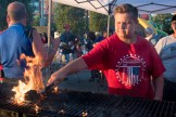 Michael Mastracola fired up the grill on Saturday afternoon