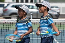 Ali and Mohamad Suliuam enjoyed watching the tennis at Devir Park on Tuesday.