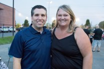 Senator Sal DiDomenico and his wife Tricia DiDomenico visited the Rec Center for National Night Out