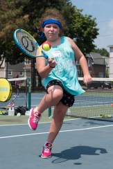 Cadence LeShane enjoyed a round of tennis at Devir Park on Tuesday afternoon.