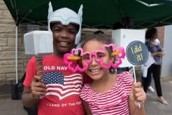 Daniel Booth and Alexis Smith enjoyed posing with funny props during National Night Out