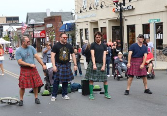 Making it on Broadway, Jeff Doucette, Andrew Imbracsio, Kilted Colin and Kevin Gibney.