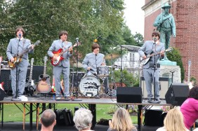 Ticket to Ride the Beatles cover band entertained on the American Legion lawn