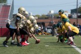 Everett competed in a series of scrimmage games at Everett Memorial Stadium on Sunday afternoon.