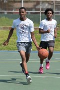 On Saturday a 3-on-3 basketball tournament was held at Florence Street Park to celebrate the end of summer.