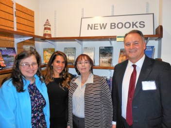 LIBRARY LEADERSHIP: Left to right, Saugus Public Library Board of Trustees, Chair Debra Dion Faust, Roseann Luongo and Gail Murray join Library Director Alan Thibeault.