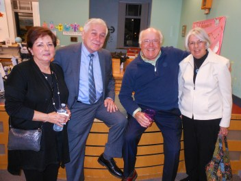 HUGE LIBRARY SUPPORTERS: Left to right, Joyce Rossetti, her husband Peter A. Rossetti, Jr., Bob Davis and his wife, Carolyn. Peter Rossetti was one of this year's honorees.