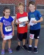 Shown, from left to right, are Theresa Marquise, 7, of Bellows Falls, Vt.; Cian Sullivan, 9, of Melrose; and Benjamin Madden, 10, also of Melrose.