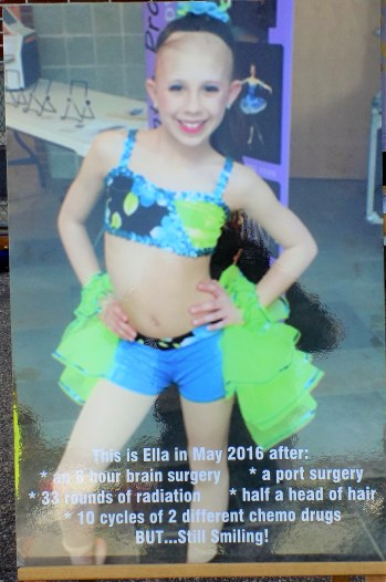 A picture of Ella O'Donnell was on display during the first annual Ella's Army 5K Family Fun Run on Sept. 30 at South Memorial Elementary School. The race was held in memory of Ella, who passed away from brain cancer in November 2016.