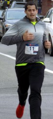 John Doyle, 28, of Lynn, finished in second place with a time of 21 minutes, 28 seconds.