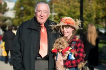 John Hanlon, his granddaughter Emily Hanlon, and their pup Sunny joined the fun at Glendale Park on Halloween.