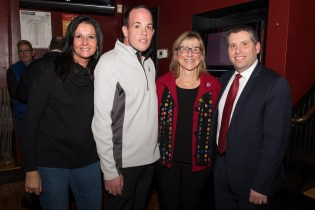 Patti Frati, Councillor Mike McLaughlin, Senate President Karen Spilka, and Senator Sal DiDomenico enjoyed an evening mingling at Stewarts with Everett friends.