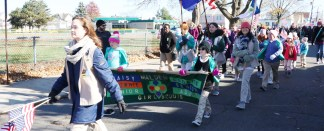 The Malden Girl Scouts were cheered along the parade route.