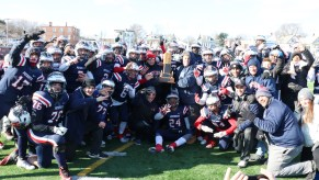 The 2018 RHS Patriots Varsity Football Team crowned Thanksgiving Day Champions, beating the WHS Vikings, 18-6.