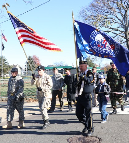 Members of Malden's DAV Chapter 85 marched along the route.