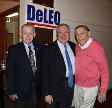 Ward 5 Councillor John Powers and Len Piazza with Speaker DeLeo