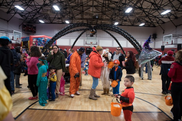 The Rec Center was filled with kids on the afternoon of Halloween.