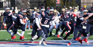 The Patriot line led by Cal Capozzi for a big gain for Captain Darius McNeil.