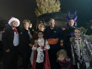 From left to right: Burlington resident Jolian Bernal as Dr. Seuss, Jane Rizzo as herself, Joyce DiNuccio as herself, Daniel Bernal, 8, as Dracula, Danny Rizzo as himself, Aisha Ellis as Maleficent, and Brooke DiNuccio as a Mad Scientist.
