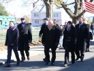 Malden elected officials head toward Devir Park for the WWI Dedication Ceremony.