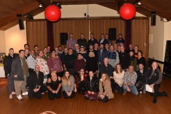 Past and present employees of Kelley's Roast Beef turned out to congratulate Bob Belmonte on his retirement.