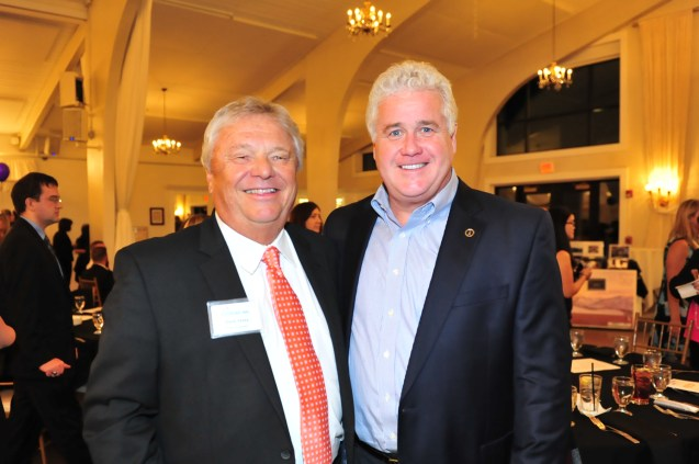Steve Vesey, Board of Directors, with Kevin Tierney, President of North Shore Bank