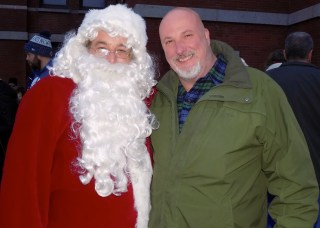 Santa Claus and City Council President Edward Charest.