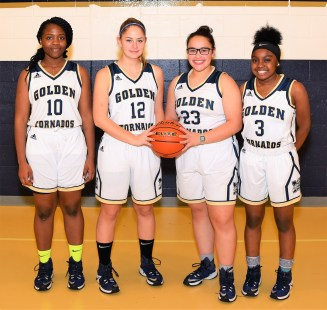 SENIORS: Shown from left to right are Camille Nommi, Audree Carleton, Salma Bezzat, and Nakiyah Ely Anderson